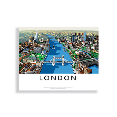 The River Thames, London - Canvas