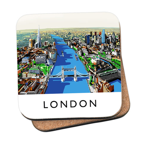 The River Thames, London - MDF Coaster