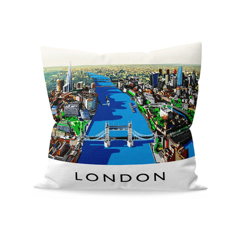 The River Thames, London - Fibre Filled Cushion