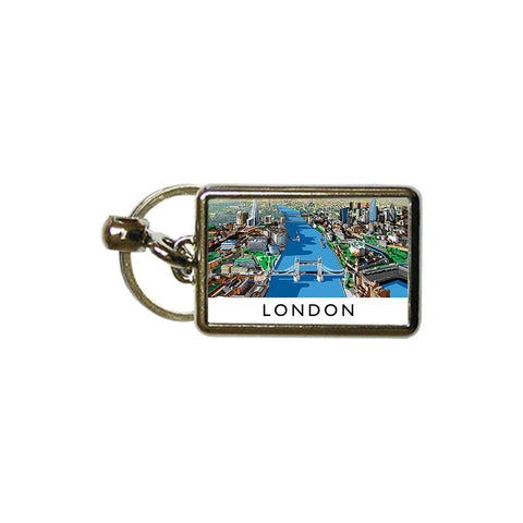 The River Thames, London - Metal Keyring