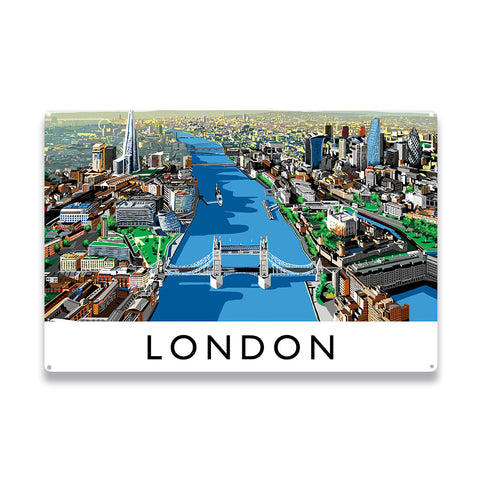The River Thames, London - Metal Sign