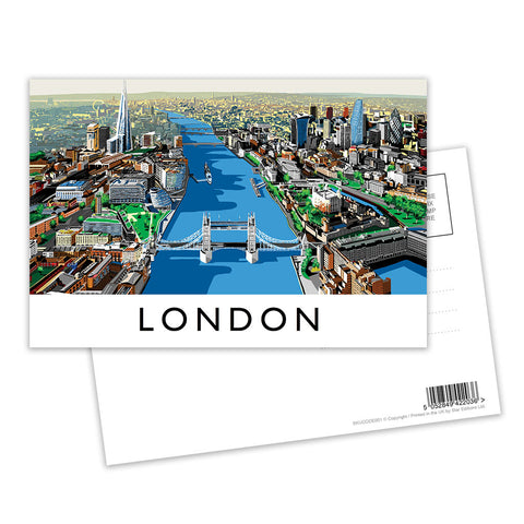 The River Thames, London - Postcard Pack