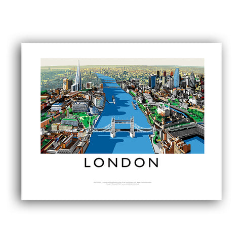 The River Thames, London - Framed Print
