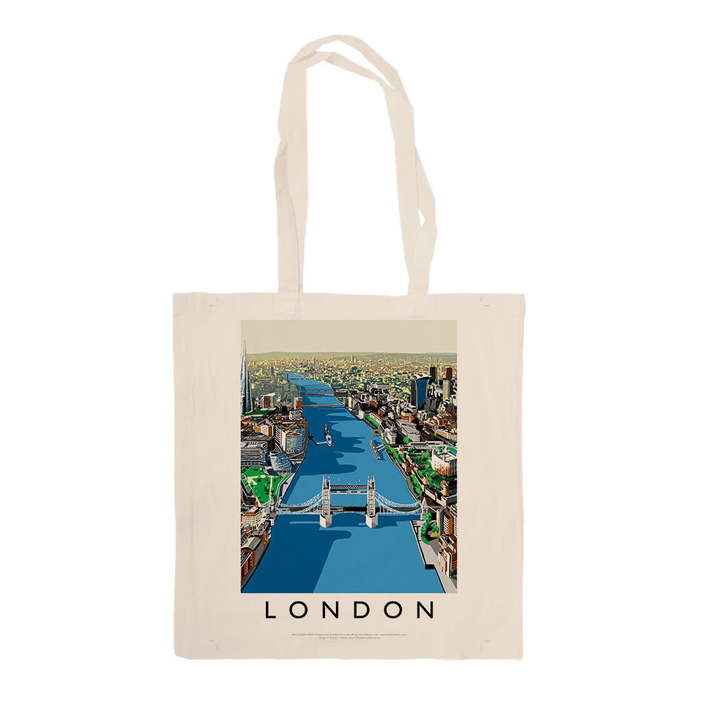 The River Thames, London - Canvas Tote Bag