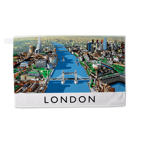 The River Thames, London - Tea Towel