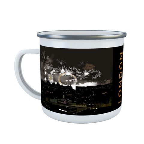 London at night Enamel Mug