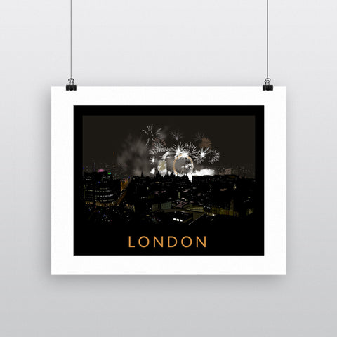 London at night Fine Art Print
