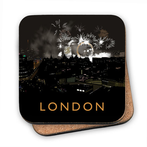 London at night MDF Coaster