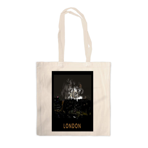 London at night Canvas Tote Bag
