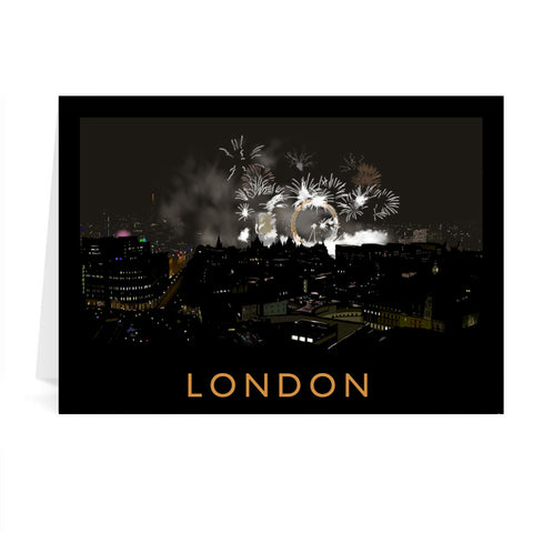 London at night Greeting Card 7x5