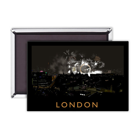 London at night Magnet