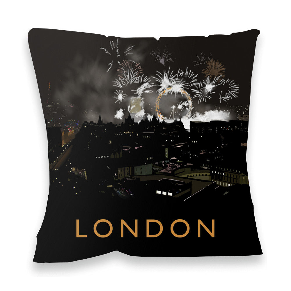 London at night Fibre Filled Cushion