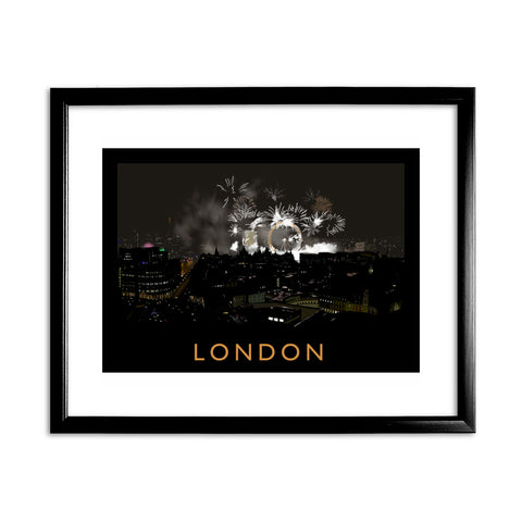 London at night 11x14 Framed Print (Black)