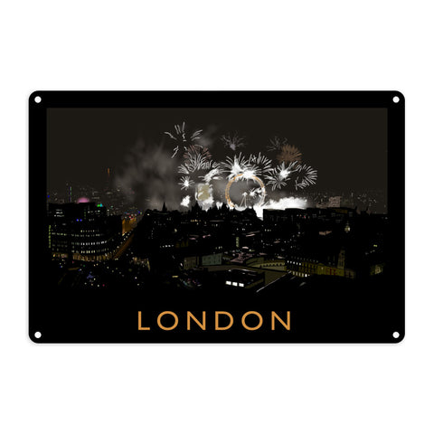 London at night Metal Sign