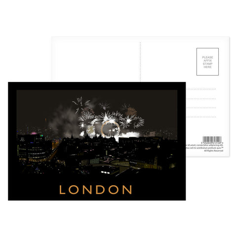 London at night Postcard Pack
