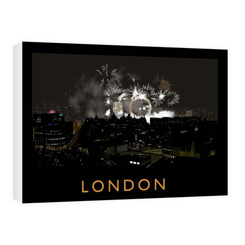 London at night Canvas