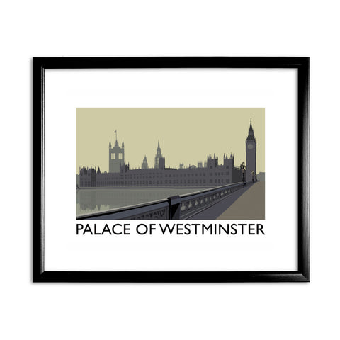 The Palace of Westminster, London 11x14 Framed Print (Black)