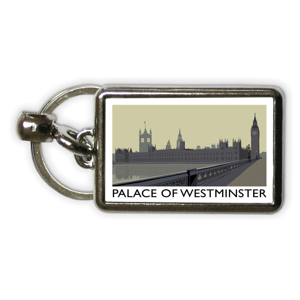 The Palace of Westminster, London Metal Keyring