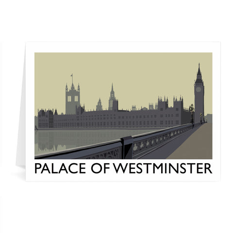 The Palace of Westminster, London Greeting Card 7x5