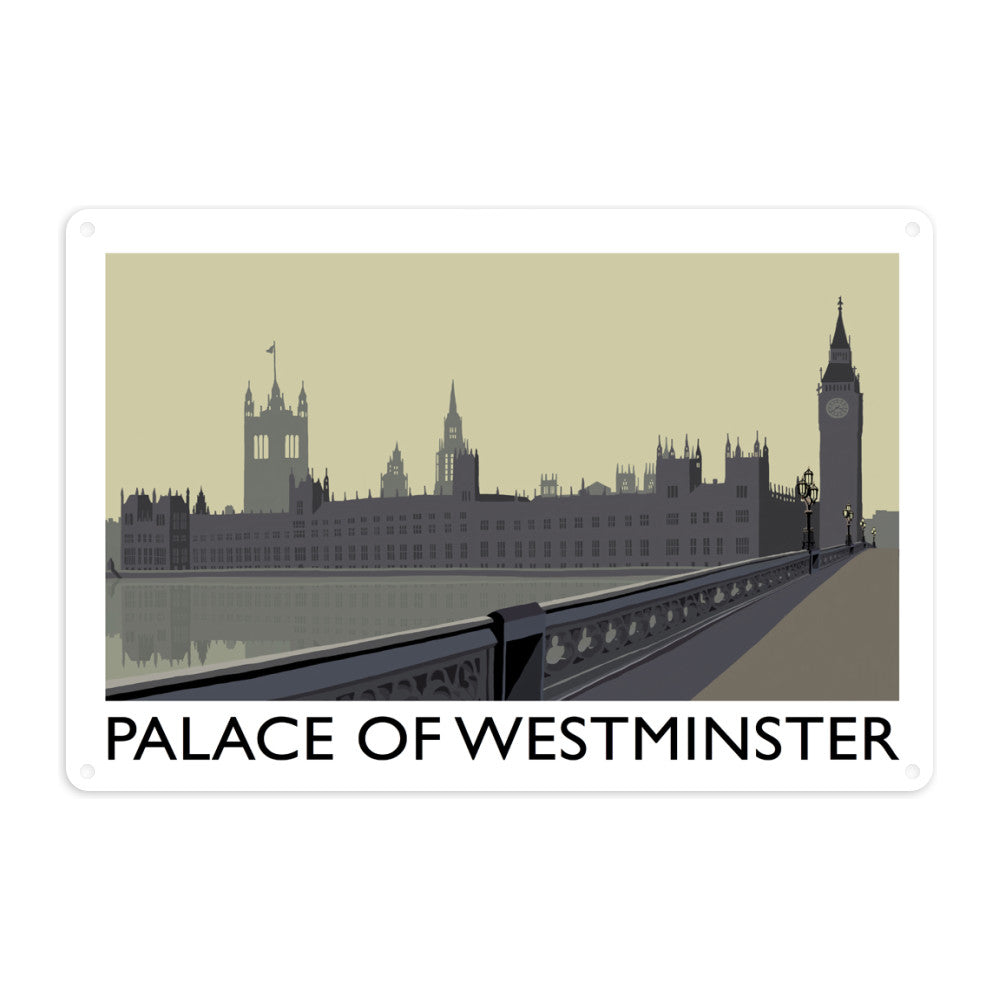 The Palace of Westminster, London Metal Sign