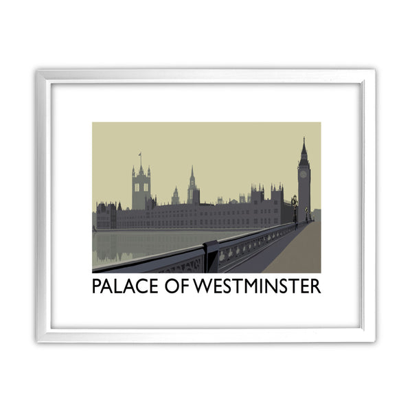 The Palace of Westminster, London 11x14 Framed Print (White)
