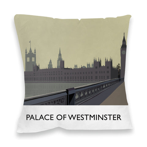 The Palace of Westminster, London Fibre Filled Cushion