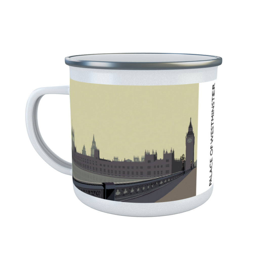 The Palace of Westminster, London Enamel Mug