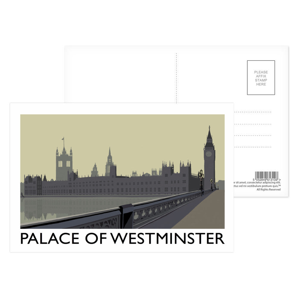The Palace of Westminster, London Postcard Pack
