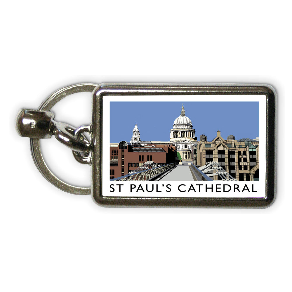 St Pauls Cathedral, London Metal Keyring