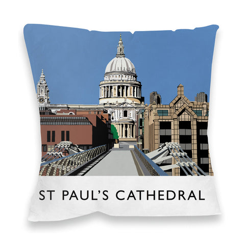 St Pauls Cathedral, London Fibre Filled Cushion