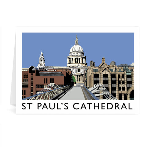 St Pauls Cathedral, London Greeting Card 7x5