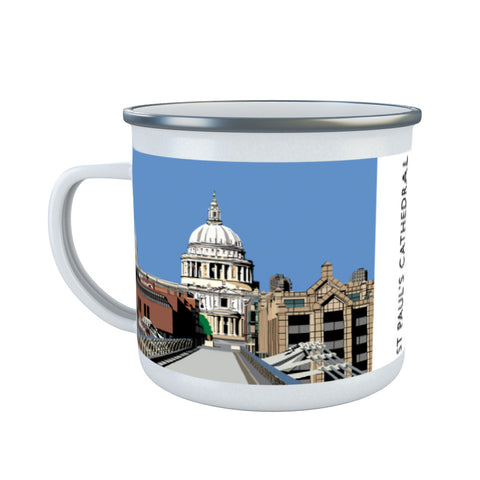 St Pauls Cathedral, London Enamel Mug
