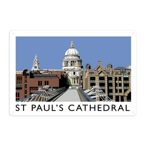 St Pauls Cathedral, London Metal Sign