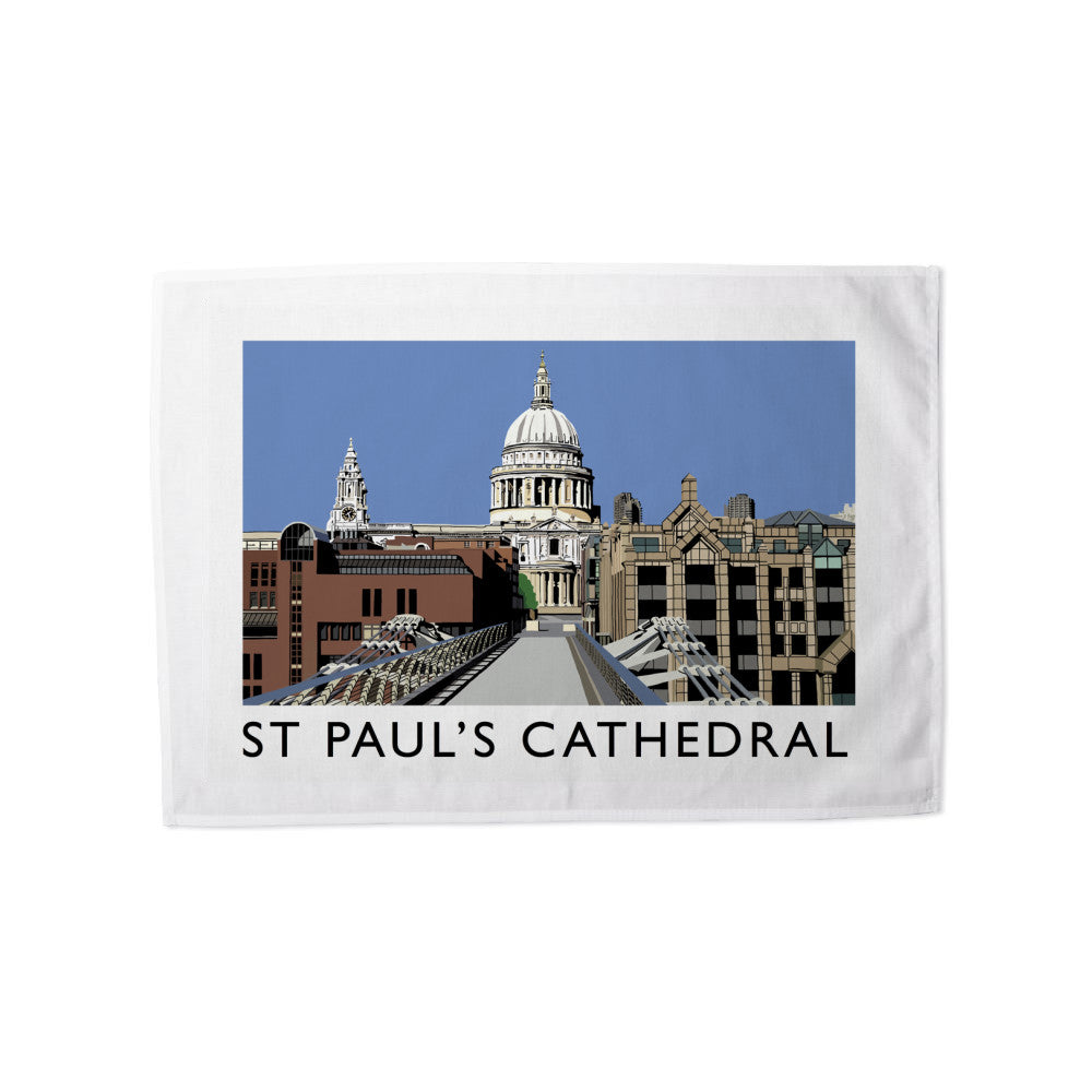 St Pauls Cathedral, London Tea Towel