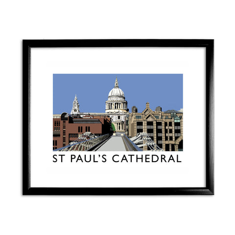 St Pauls Cathedral, London 11x14 Framed Print (Black)