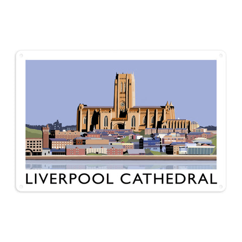 Liverpool Cathedral Metal Sign