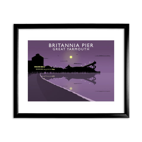 Britannia Pier, Great Yarmouth, Norfolk 11x14 Framed Print (Black)