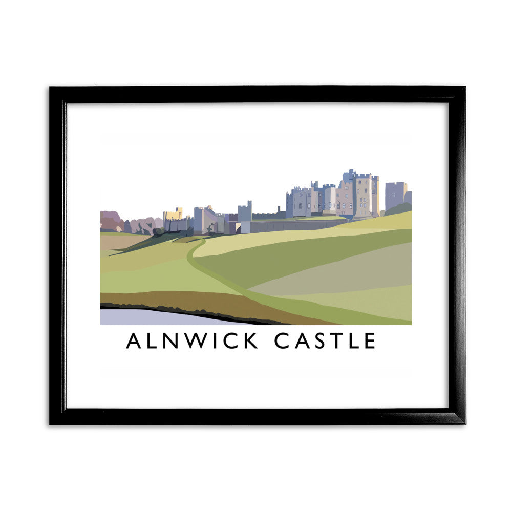 Alnwick Castle, Northumberland 11x14 Framed Print (Black)