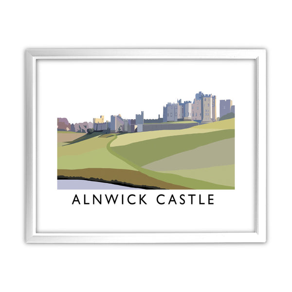 Alnwick Castle, Northumberland 11x14 Framed Print (White)