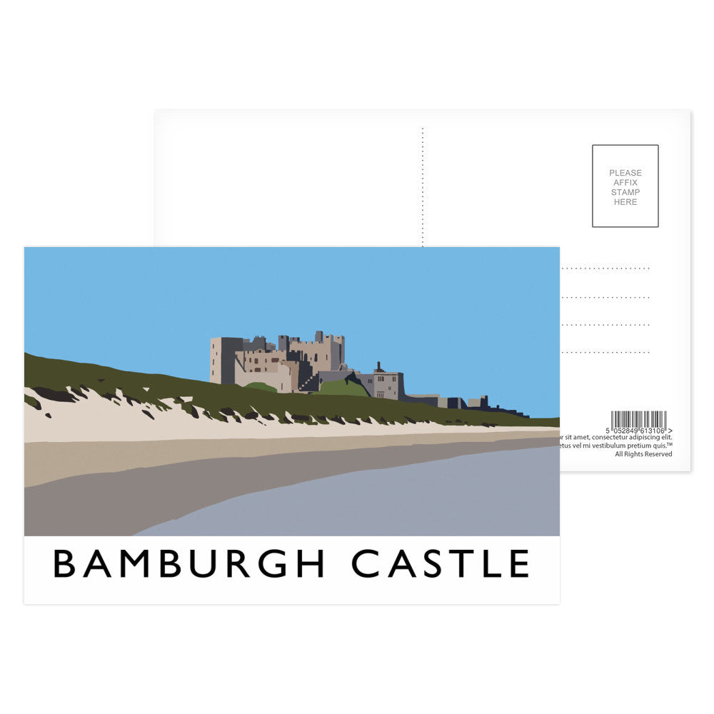 Bamburgh Castle, Northumberland Postcard Pack