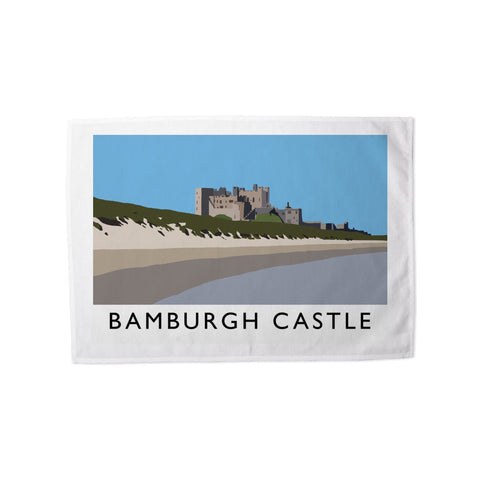 Bamburgh Castle, Northumberland Tea Towel