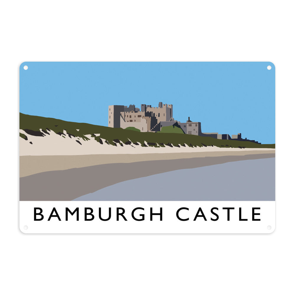 Bamburgh Castle, Northumberland Metal Sign