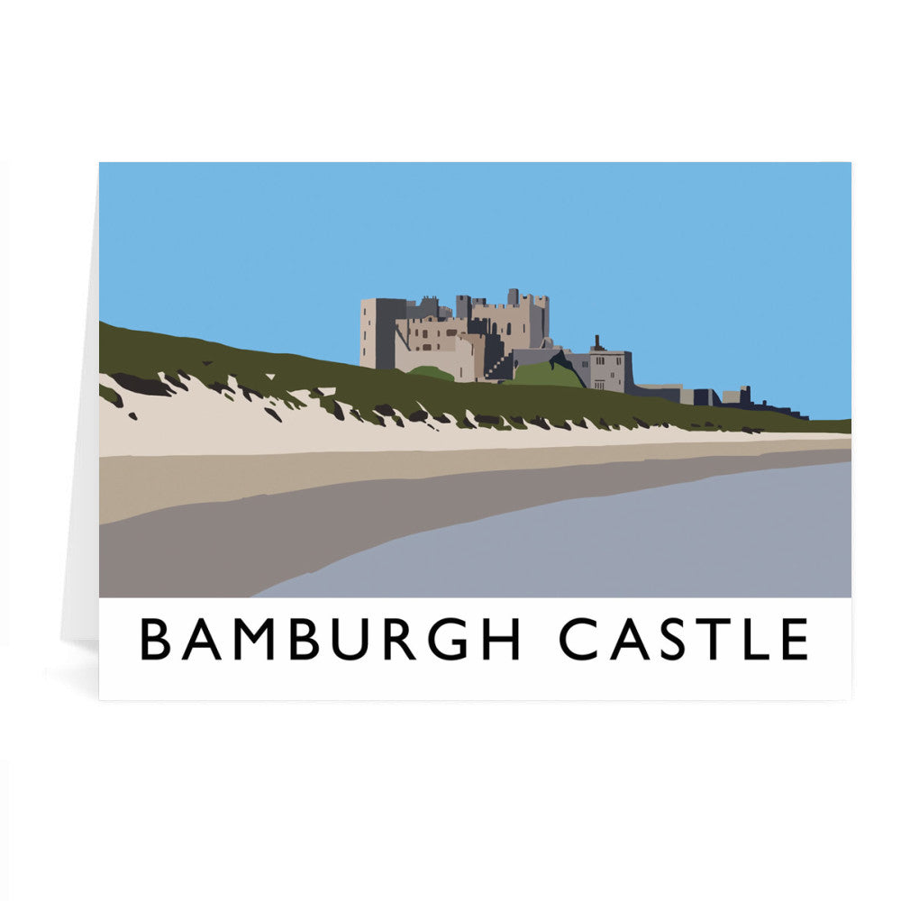 Bamburgh Castle, Northumberland Greeting Card 7x5