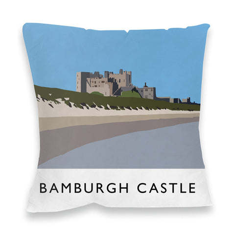 Bamburgh Castle, Northumberland Fibre Filled Cushion