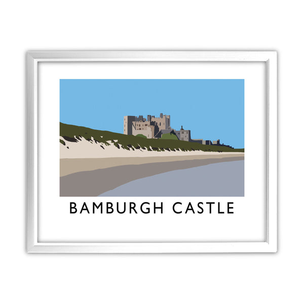 Bamburgh Castle, Northumberland 11x14 Framed Print (White)