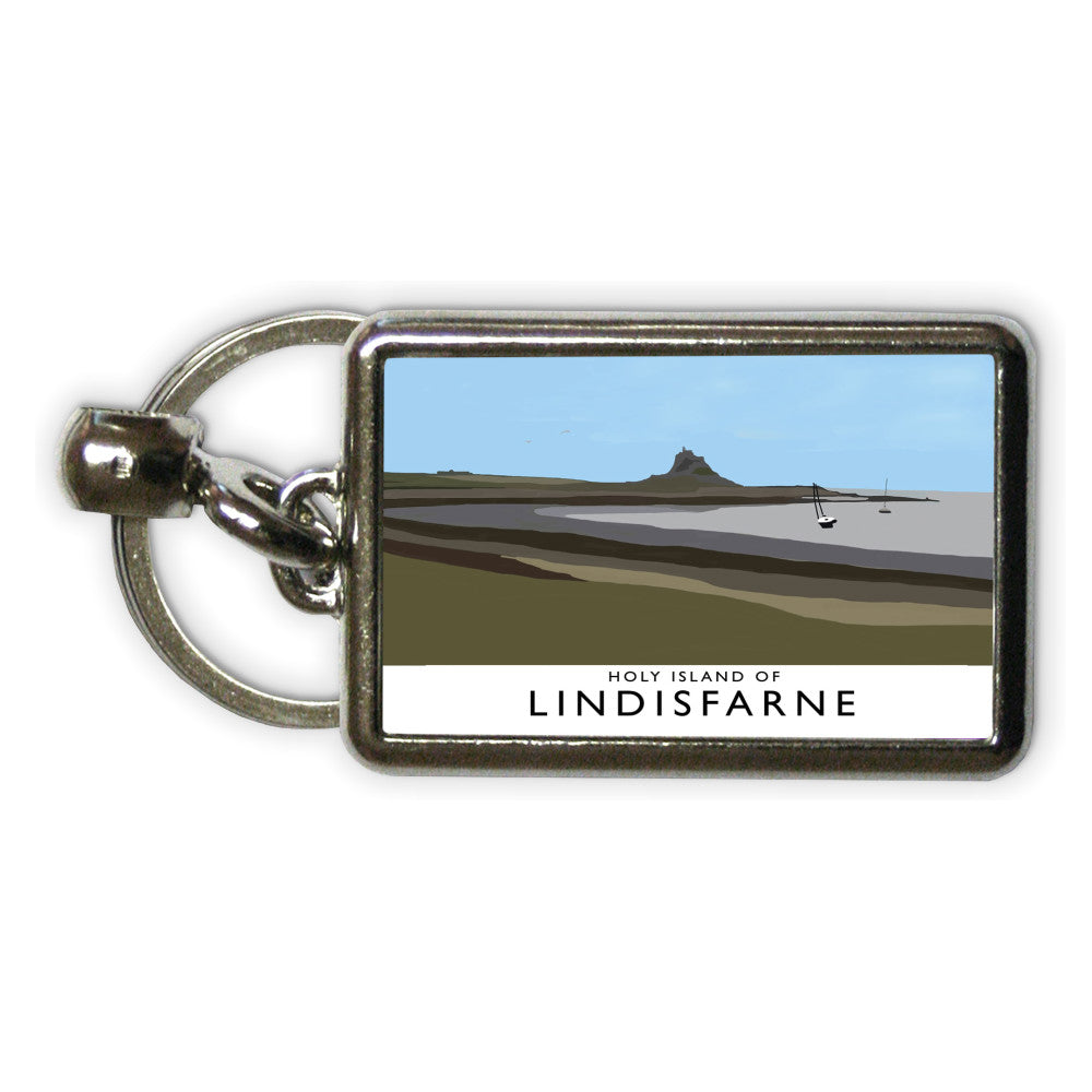 The Holy Island of Lindisfarne Metal Keyring