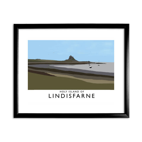 The Holy Island of Lindisfarne 11x14 Framed Print (Black)