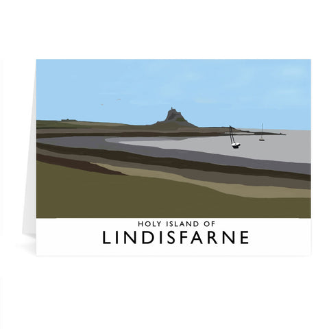 The Holy Island of Lindisfarne Greeting Card 7x5