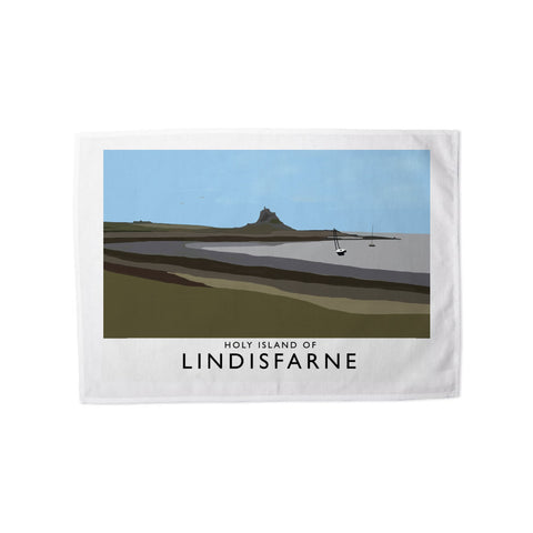 The Holy Island of Lindisfarne Tea Towel