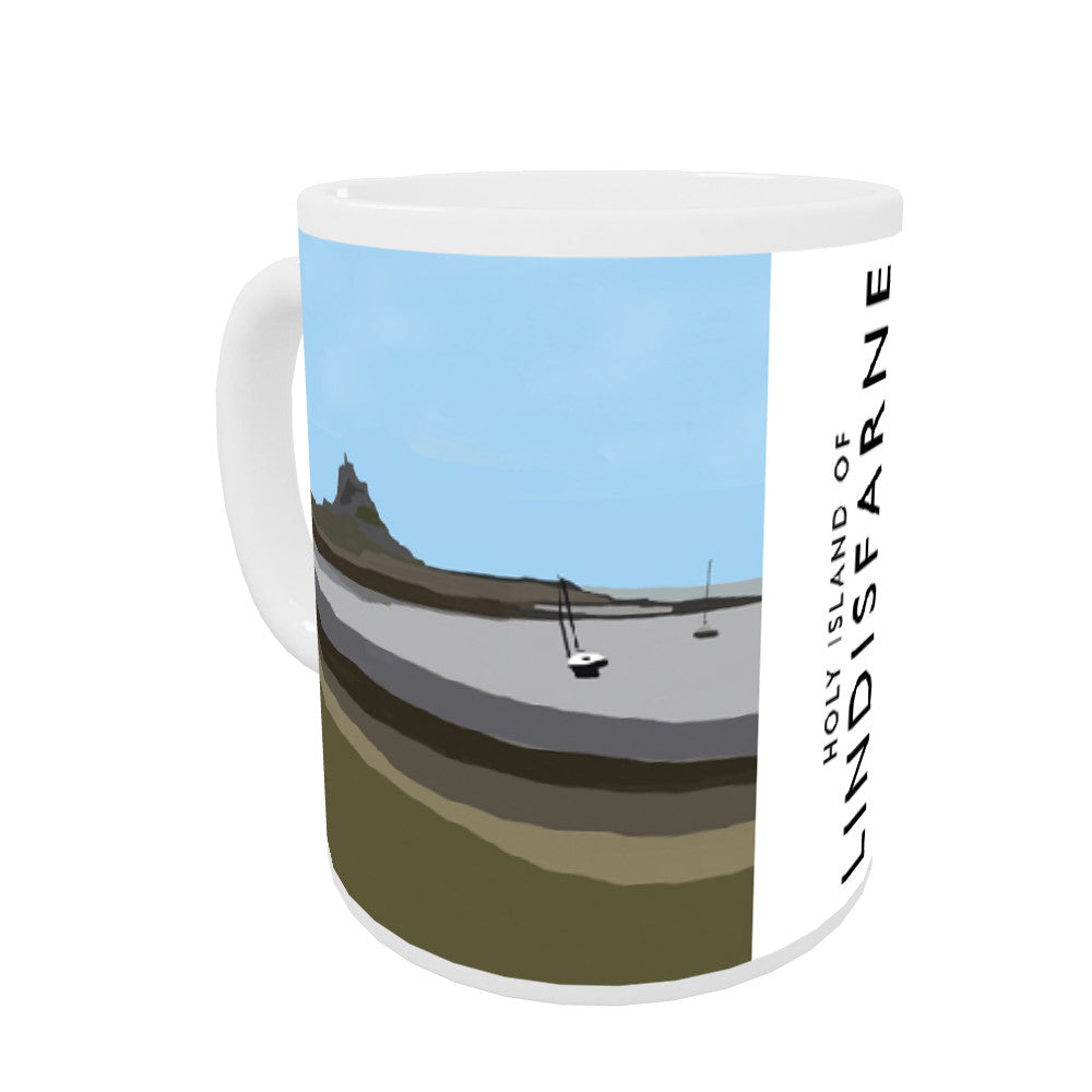 The Holy Island of Lindisfarne Coloured Insert Mug